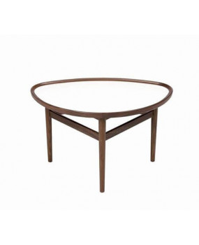 Vintage style walnut coffee table