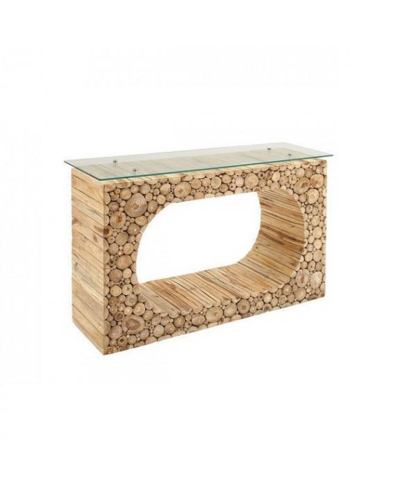 Mesa consola de madera teca
