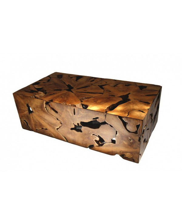 Box coffee table with glass top