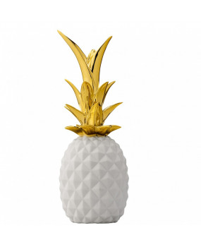 Pineapple decoration white and gold