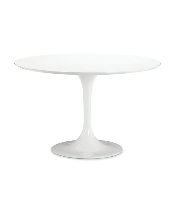 Mesa redonda de fibra de vidrio