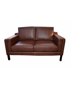 Analine leather vintage style sofa