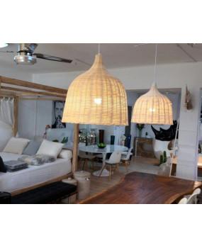 Lámpara de techo ratán