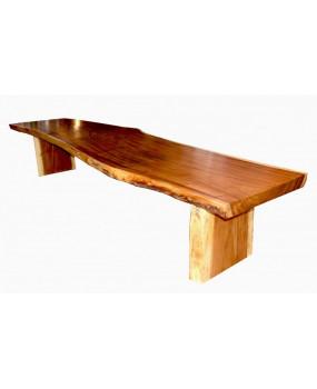 Mesa de madera suar de una pieza (4 metros)