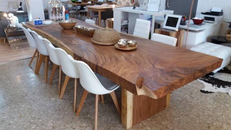 Espectaculares mesas de comedor grandes for Mesas de comedor grandes de madera